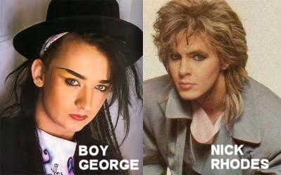 Boy George and Nick Rhodes