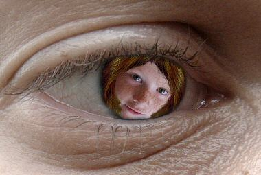Girl in eye