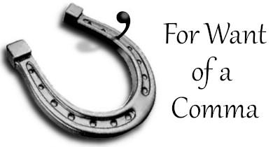 horseshoe & comma